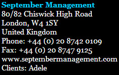 Adele Manager contact info
